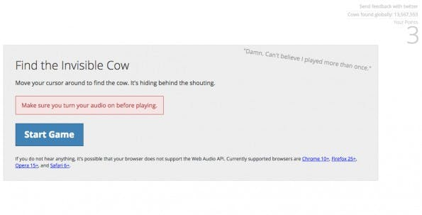 Prokrastination leicht gemacht: Find the Invisible Cow.
