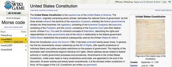 Prokrastination leicht gemacht: The Wiki Game.