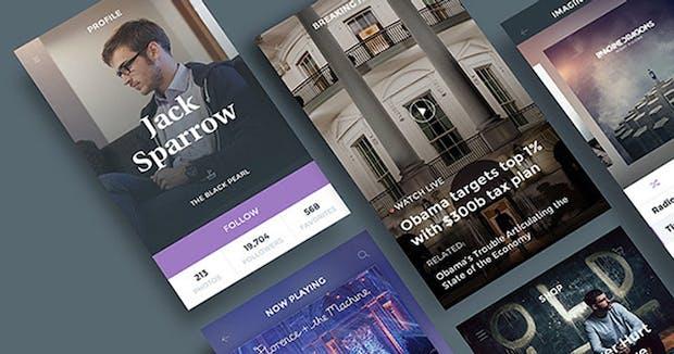 Atemberaubende UI-Kits als Photoshop-Vorlagen [Teil 3]