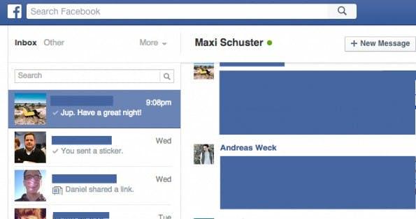 Versteckte Facebook-Funktionen: Sonstige-Nachrichten. (Screenshot: Andreas Weck)