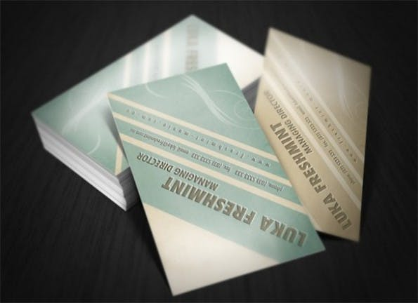 Visitenkarten - Soft Tones Business Card Template Set PSD