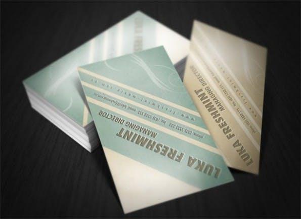 Visitenkarten - Soft Tones Business Card Template Set PSD