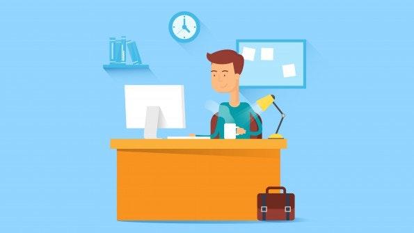 Ist alles ergonomisch? Schreibzeug griffbereit? Hast Du genug Licht? (Bild: © mayrum / Shutterstock)