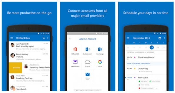 Microsoft integriert die Funktionen des Sunrise Kalenders in die Outlook-App. (Screenshot: Play-Store)