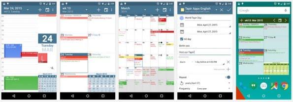 Kalender-Apps für Android: Power-User sollten einen Blick auf aCalender werfen. (Screenshot: Play-Store)
