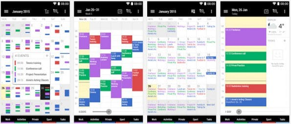 Kalender-Apps: Business Calendar 2 erstrahlt im neuen Look. (Screenshot: Play-Store)
