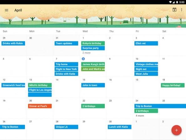 Auch Google selbst bietet einen sinnvolle Kalender-App für Android an. (Screenshot: Google)