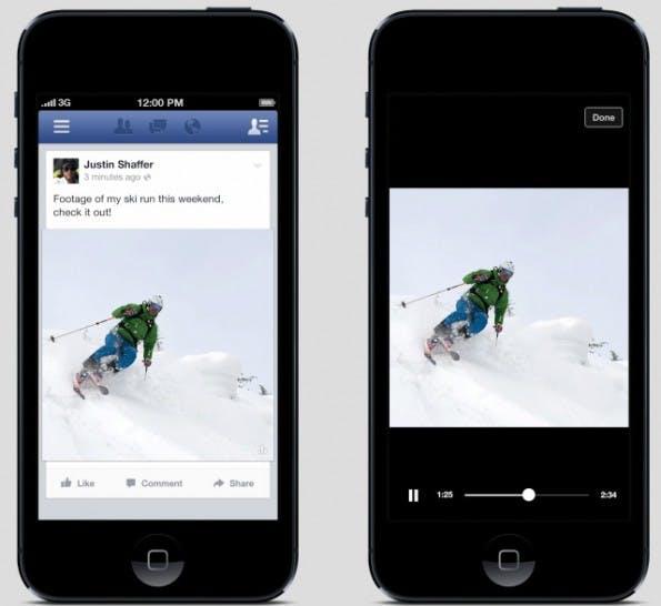 Mit mehr und mehr Funktionen macht Facebook YouTube in Sachen Video Konkurrenz. (Screenshot: TechCrunch)