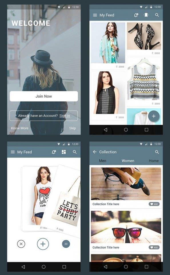 Auf Android angepasste Design-Elemente im Material Design (Screenshot: graphicsfuel.com).