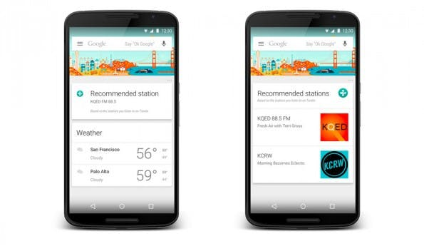 Google Now: TuneIn Radio will euch über spannende Podcasts und Stationen informieren. (Grafik: TuneIn Radio)