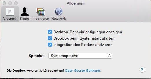 mac dropbox start