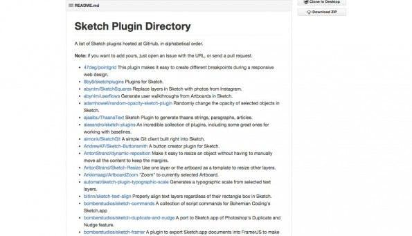 Hier findet ihr so ziemlich alle Sketch-Plugins auf GitHub. (Screenshot: GitHub)