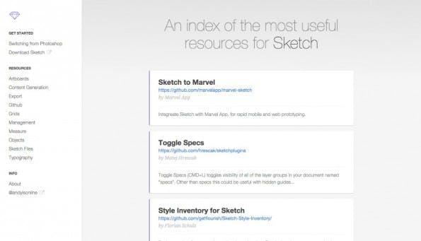 Auf Sketch.land findet ihr neben Plugins auch weitere Ressourcen. (Screenshot: Sketch.land)