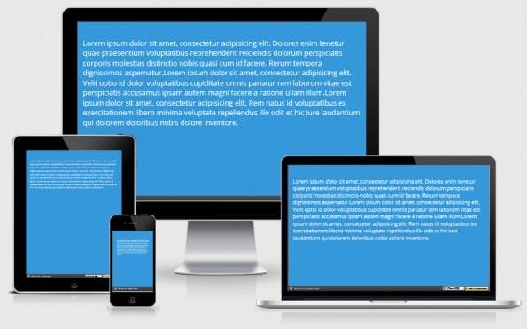 Responsiver body-Text mit CSS Viewport-Einheiten. (Bild: pixeltuner.de)