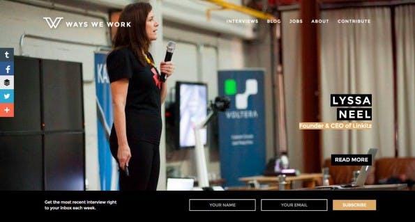"""""""Ways we work"""" zeigt euch, wie Menschen heutzutage arbeiten. (Screenshot: Ways we work)"""