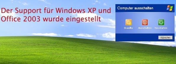 Seit April 2014 besteht kein offizieller Support mehr für Windows XP. (Screenshot: microsoft.com)