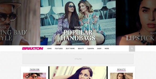 WordPress-Theme für Fashion-Blog (Screenshot: mvpthemes.com)
