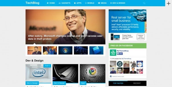 WordPress-Theme für Technik-Liebhaber (Screenshot: mythemeshop.com)