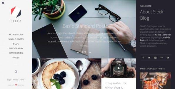 WordPress-Theme für Food-Blogger (Screenshot: korra.io)