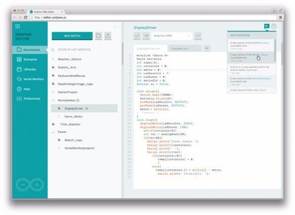 Arduino Create: So aufgeräumt sieht die neue Web-IDE aus. (Quelle: Arduino)
