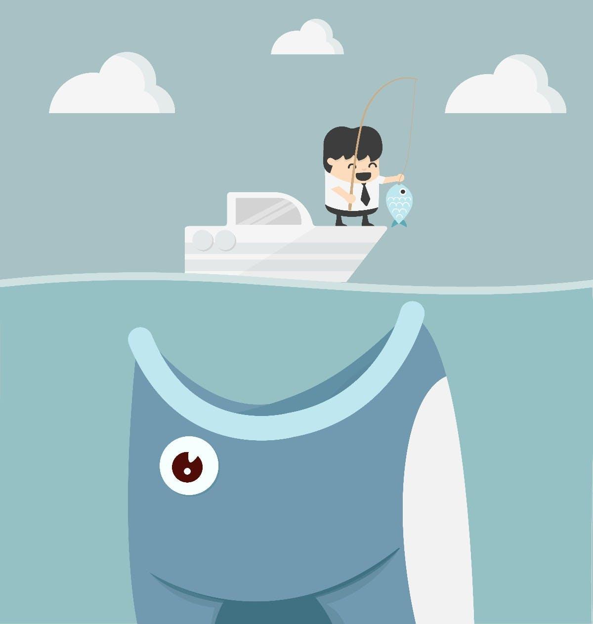Das Prinzip Acqui-Hire: Wer ein Startup schluckt, verleibt sich auch die Mitarbeiter ein. (Grafik: Shutterstock)