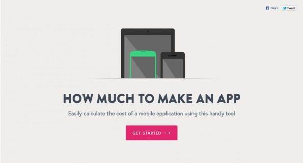 Nicht nur für Startups nützlich: Der Kostenkalkulator für die geplante App. (Screenshot: howmuchtomakeanapp.com)
