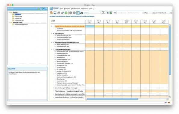 Das kostenlose Tool miniplan hilft euch bei der Erstellung eures Businessplans. (Screenshot: miniplan)