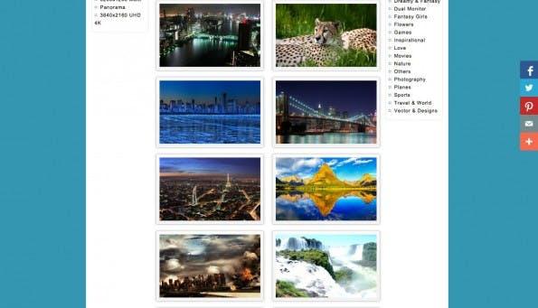 HD Wallpaper bietet verschiedene Motive für euer Multi-Monitor-Setup. (Screenshot: HD Wallpaper)