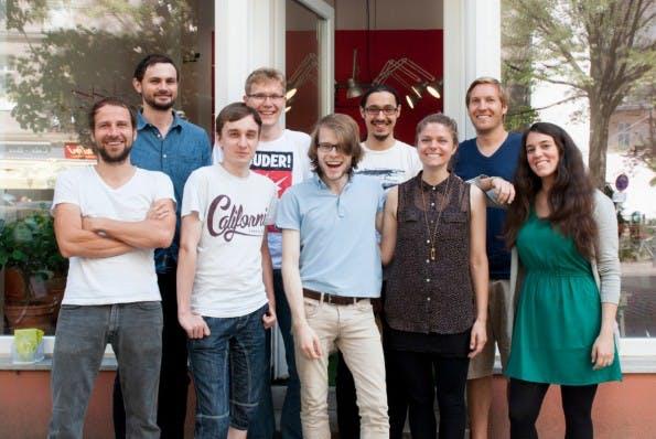 Das neunköpfige Team von Ecosia. (Foto: Ecosia)