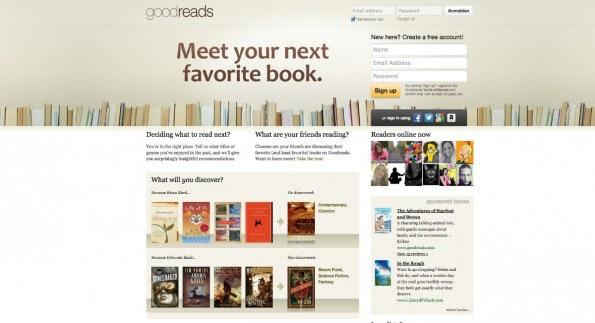 Facebook-Alternativen für Leseratten: Communities wie Goodreads oder LovelyBooks haben sich auf das Thema Bücher spezialisiert. (Screenshot: Goodreads)