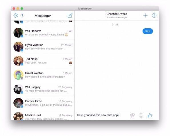 Facebook-Messenger für OS X: Chat for Mac bietet im Grunde keine Alleinstellungsmerkmale. (Screenshot: Chat for Mac)