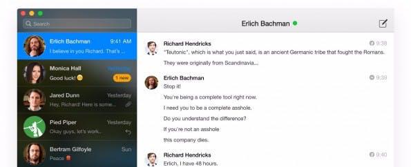 Facebook-Messenger auf dem Mac-Desktop: Chatty bietet viele Funktionen ist aber nicht kostenlos. (Screenshot: Chatty)