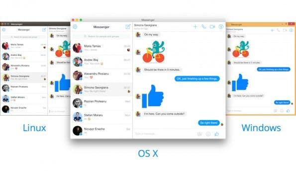 Messenger for Desktop bringt den Facebook-Messenger auf verschiedene Plattformen. (Screenshot: Messenger for Desktop)
