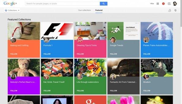 Mit den Sammlungen macht Google+ jetzt auch Pinterest Konkurrenz. (Screenshot: Google+)