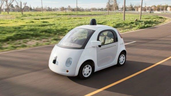 Googles selbstfahrendes Auto besitzt weder Pedal noch Lenkrad. (Foto: Google)