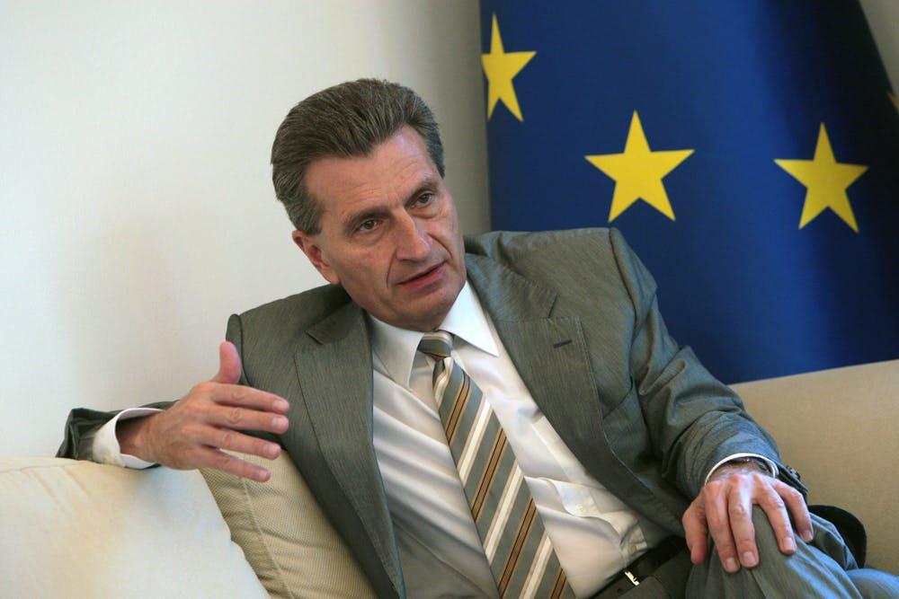 """Günther Oettinger und das Leistungsschutzrecht: """"Das ist ein Witz, oder?"""""""