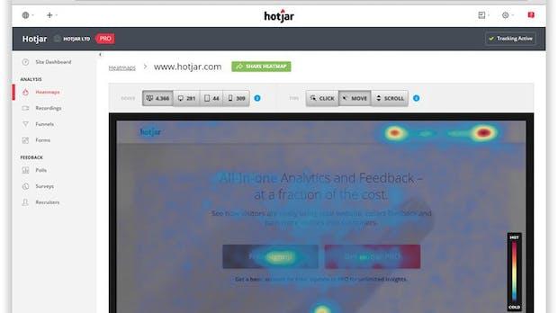 Hotjar: Webanalyse für Entwickler und Analysten