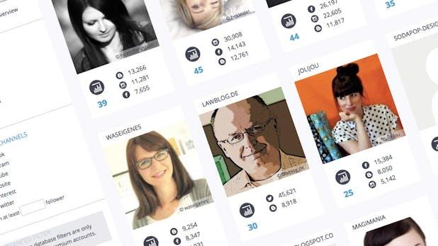 Influencer.db: Hier findest du Instagram-Influencer für deine Marketing-Kampagne