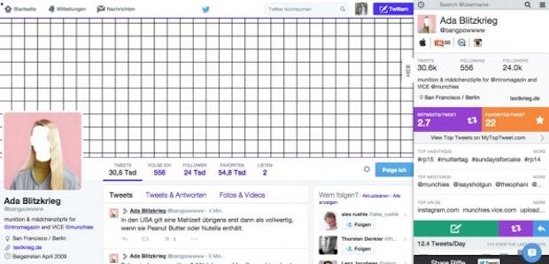 Riffle gibt per Klick eine kurze Statistik der Twitter-Nutzer in deinem Dunstkreis aus. (Screenshot: Riffle)