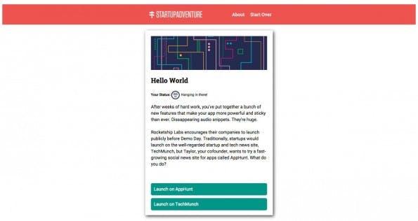 StartupAdventure: Dieses Browsergame versetzt euch in die Position eines Startup-Gründers. (Screenshot: StartupAdventure)