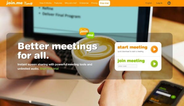 Virtuelle Meetings mit join.me. (Screenshot: join.me)