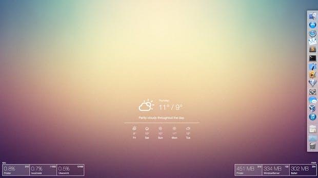 JavaScript-Widgets für euren Desktop: Das kann die GeekTool-Alternative Übersicht