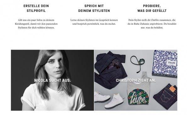 Bei Zalon von Zalando können sich Nutzer ihre persönlichen Stylisten je nach Anlass selbst aussuchen. (Screenshot: Zalon)