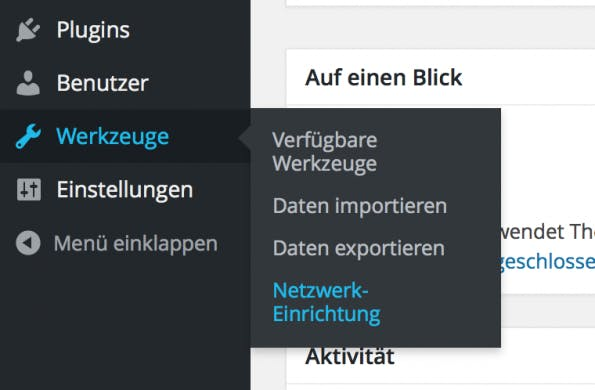 WordPress Netzwerk Einrichtung