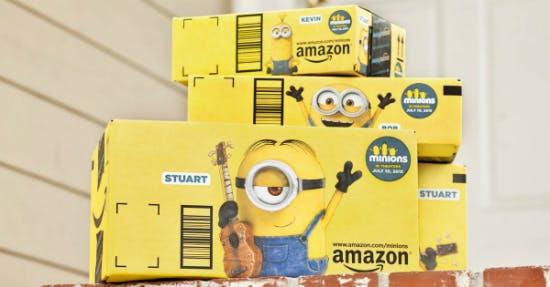 So sehen die gelben Minion-Kartons von Amazon aus. (Foto: Amazon)
