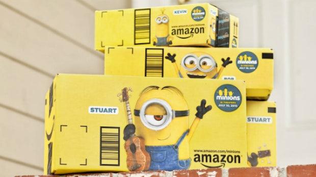 Minions bringen deine Bestellung: Cleveres Marketing auf Amazon-Versandkartons
