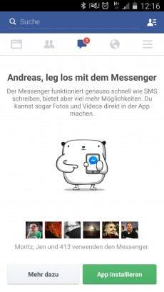 Den App-Zwang in den Facebook-Messenger finden viele Nutzer uncool. Mit diesen Tricks umgehst du ihn. (Screenshot: t3n.de)