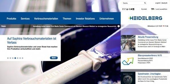 (Screenshot: Heidelberger Druckmaschinen AG)