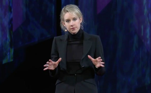 Inspirierendster Kopf des Silicon Valley 2015: Theranos-Chefin Elizabeth Holmes. (Screenshot: Tedmed/YouTube)