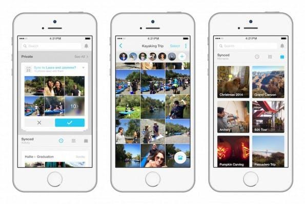 Moments: Neue Facebook-App soll privates Fotosharing ermöglichen. (Screenshot: Facebook)